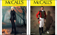 New McCalls Sewing Pattern Adult Cosplay Costume Men Women Halloween You Pick