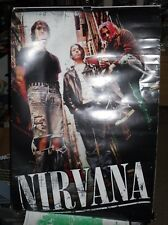 Vintage Nirvana Poster 24 In. X 36 In. Kurt Cobain Dave Grohl Kurt N.