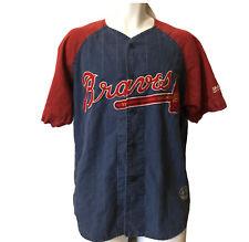 Men's M Mirage Cooperstown Collection Atlanta Braves Jersey Sewn #23 Vintage
