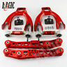 Lower Control Arm LCA+Front Upper+ Rear Camber Kit For Honda Civic EG EJ EH RED