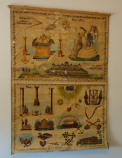 Masonic MASTER CARPET 19TH CENT Chart Freemason Poster Tracing Board