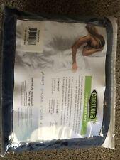 Store Return-Cariloha Soft Bamboo Sheet Set 100% Viscose Bamboo King Blue