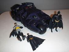 DC BATMAN BEGINS BATMOBILE TUMBLER WITH LIGHTS SOUNDS MATTEL 2005 w/FIGURES