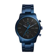 FOSSIL FS5345 Townsman Men's Chronograph Bracelet Watch Blue Stainless Steel NEW