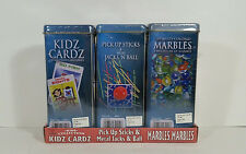 Cardinal Classic 3 Pack Collection Games Pick-Up-Sticks Marbles Go Fish Crazy 8