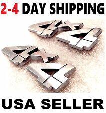 X2 Chrome 4X4 EMBLEM truck WESTERN STAR PETERBILT logo decal SIGN ornament 1.2