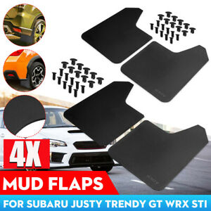 4Pcs Mud Flaps Mudguards Splash Guards Fender For Subaru Legacy Impreza WRX STI