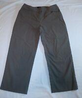 Karen Kane Womens Cropped Capri Pants Olive Green Size 2 High Waisted pockets