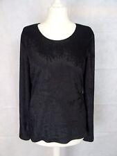 Schwarzes Samt-Langarm-Shirt von TONI GARD, Gr, S (M)