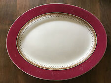 Large Rare Royal Worcester Vitreous Platter - Dated 1903 - Regency design 9419W