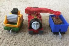 Thomas & Friends TrackMaster, Helpful Harvey With Wood chipper & Cargo Car Wood