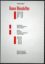 Atelier Bodoni. Unsere Bleischriften. Bodoni Druck 50. 1999.