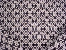 3-3/8Y Scalamandre 36406 Samarcanda Nero Anatolian Lattice Upholstery Fabric