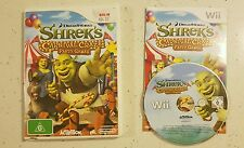 SHREK'S CARNIVAL CRAZE PARTY GAMES - AUS PAL - Nintendo Wii Game - Complete
