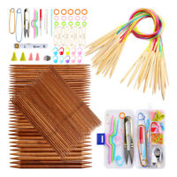Bamboo Knitting Needles Set Circular Knitting Needles With Plastic Tube