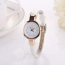New Women's Fashion Ladies Faux Leather Watch Quartz Analog Bracelet Wristwatch