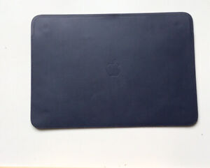 "Genuine Apple MacBook Air Retina / MacBook Pro 13"" Leather Sleeve MIDNIGHT BLUE"