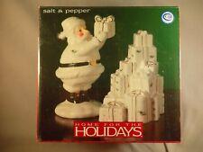 Holly Holiday Santa Christmas Presents Salt Pepper Shakers Home for Holidays NIB