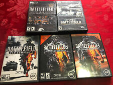 Battlefield 2142 Deluxe, 1942 Complete, Bad Company 2, Limited 3+ PC Games Lot