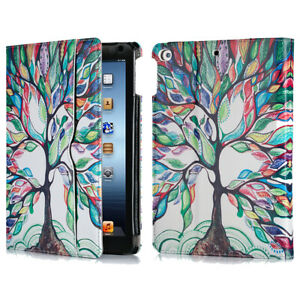 For iPad 9.7 inch 2018 6th Air 2 Wallet Folio Case Stand Smart Cover Love Tree