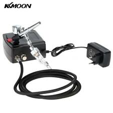 KKmoon 100-250VGravity Feed Dual Action Airbrush Air Compressor Kit for Art X7Y4