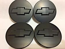 """4 Pcs Chevy, Center Cap, Black Matte, 83MM / 3.25"""", Wheel 18"""" 20"""" 22""""- 88963143"""