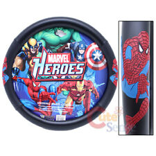 Marvel Spiderman Auto Car Steering Wheel Cover - Web Spider Action