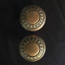 Antique pair Of Victorian Egg & Dart Design Brass Door Knobs