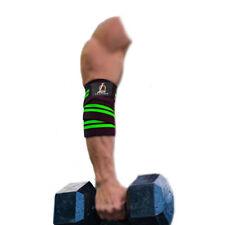 Heavy Duty Coude Manches Soutien Wraps Élastique Gym Puissance Haltérophilie Paire