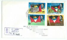 State of Antigua Statehood FDC 1967 Registered St. Johns Printed address