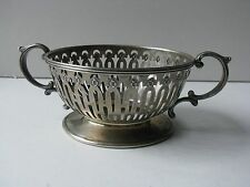 Waton Co 925 Sterling Silver Reticulated 2 Handle Cup Soup Bowl Holder Filigree