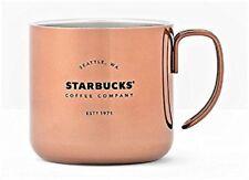 Starbucks Stainless Steel Coffee Mug Copper Color Gatherings Handle, 12 oz NWT