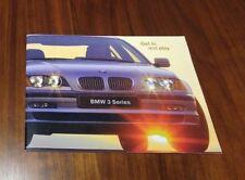 BMW 3 SERIES E46 BROCHURE 323i 328i 323Ci CONVERTIBLE SEDAN COUPE ADVERTISING