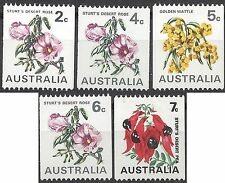 Australia 1970 COIL STAMPS (FLOWERS) (5) Unhinged Mint SG 465a-468b