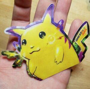 1 Yellow Cheeks Fat Pikachu Dishwasher Safe JUMBO Die Cut Skateboard Sticker