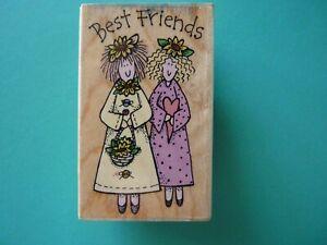 Best Friends, Two Ladies HERO ARTS Rubber Stamp