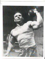 CHUCK SIPES Mr. World Strongman Pressing Solid Dumbell Bodybuilding Photo B&W