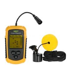 Portable Fish Finder Ice Fishing Sonar Sensor 100M Depth Sounder Alarm 45 Degree