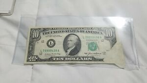 1985 FOLD OVER ERROR 1985 $10 FRN