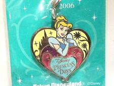 Tokyo Disneyland Cute Cinderella Princess Day Metal Keychain Pendant Heart Shape