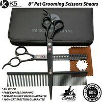 Professional Pet Grooming Hair Cutting Dog Cat Fur Thinning Scissors Shears Set