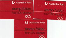 Australie Grèbe Castagneux Test 80 C dossier - 3 Exemplaires