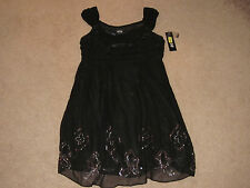 Ladies MUSE Black Silk Short Dress with Sequins (10)