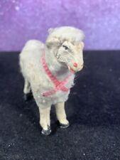 "Antique Vintage Wooly Sheep Putz Nativity 2 1/2 """