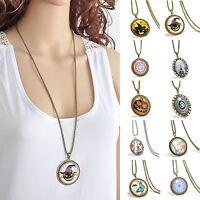 Punk Pumpkin Witch Hat Bat Pendant Chain Necklace Retro Halloween Jewelry Gift