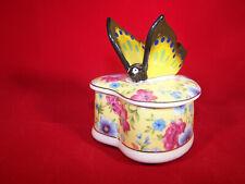 GISELA GRAHAM*Porzellan*Dose*Pillendose*Schmuckdose*Pastell Schmetterlinge*