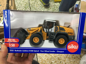 Siku Super 3533 1:50 Liebherr R580 2plus2 Four Wheel Loader Figure