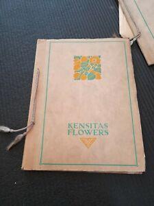 Beautiful Vintage Kensitas Flowers Silks Album Part Full