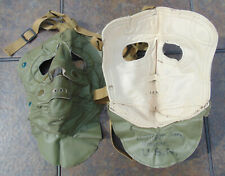 Vintage 1950's-1960's U.S.N. Vinyl Face Mask in new, non-issued condition