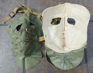 Vintage 50's-60's U.S.N.Vinyl Cold Weather Face Mask in new,non-issued condition